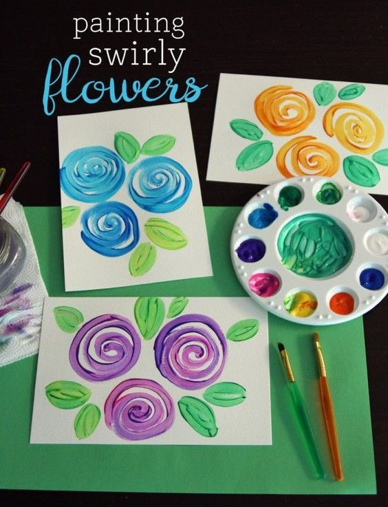 Painting Swirly Flowers With A Simple Technique Art For