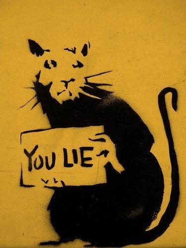 Banksy - You Lie | Сщдд | Pinterest | Banksy, Street art and Street