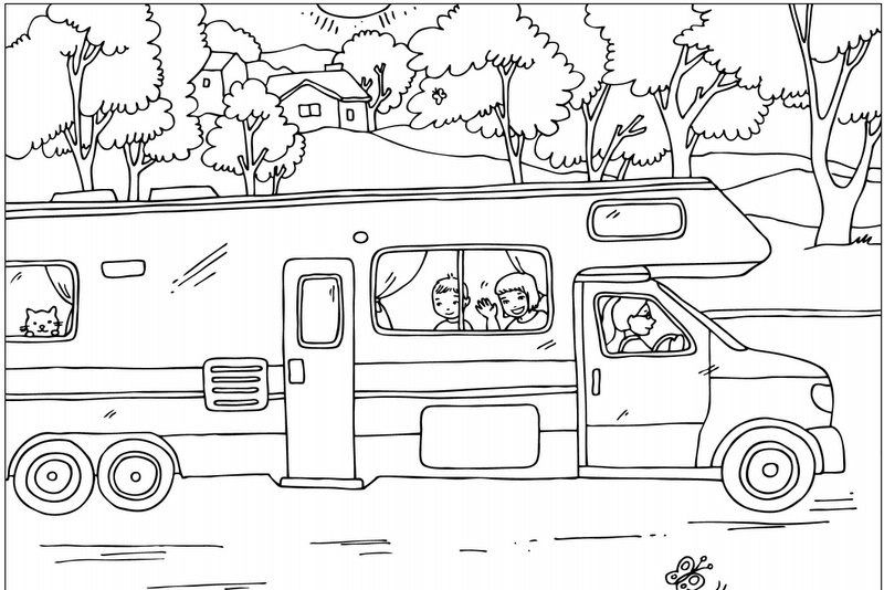 Summer Coloring Pages Cool Coloring Pages Camping Coloring