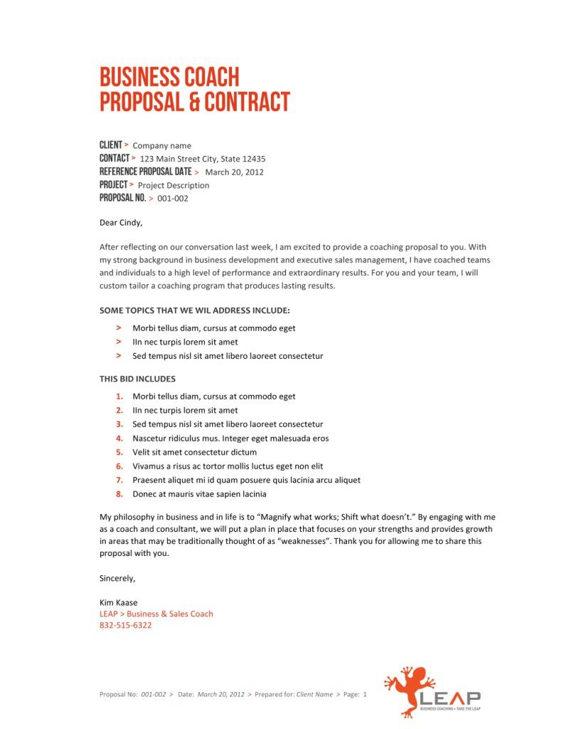 Short Business Proposal Template  Top Of Insurance  Office