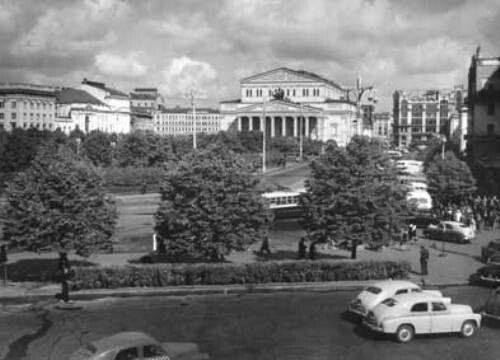 ГРАНОВСКИЙ НАУМ. Площадь Свердлова. Большой театр. 1930 ...