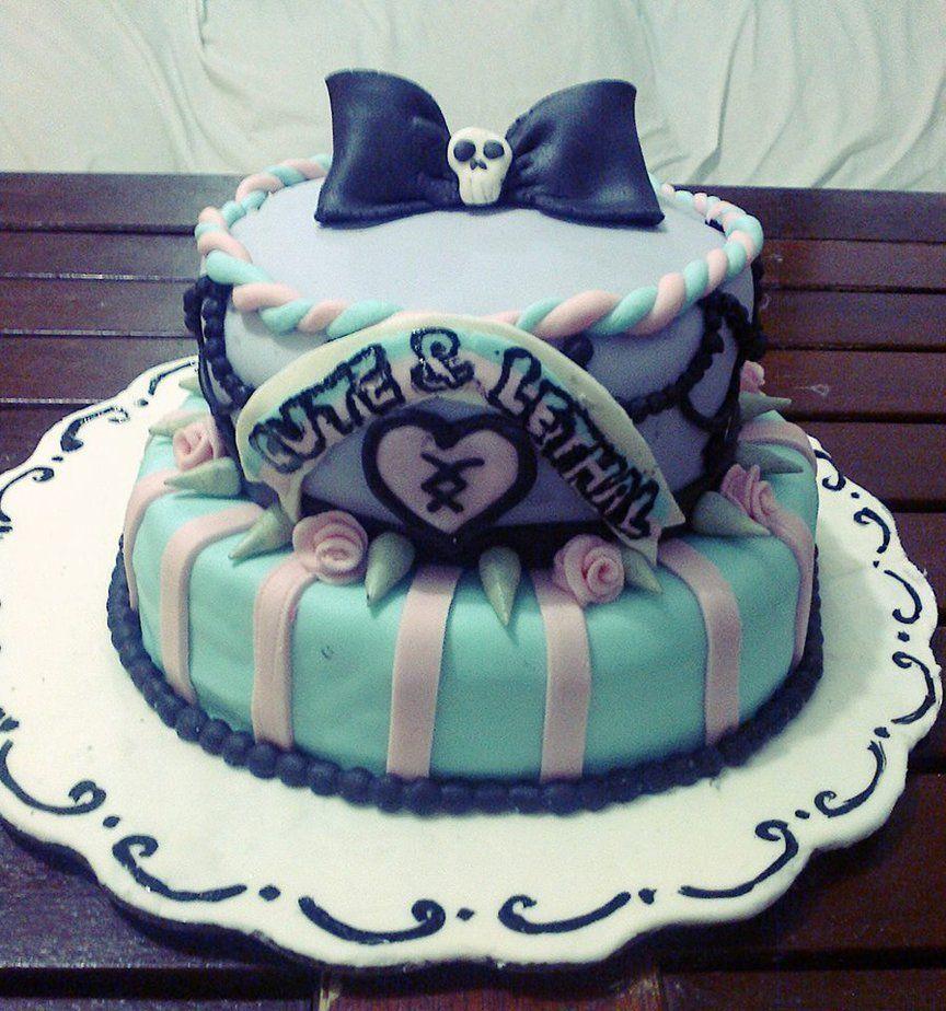 My Pastel Goth Birthday Cake I Made By Lekillerqueen On Deviantart