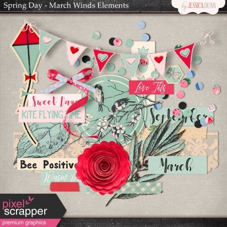 Spring Day Collab - March Winds Elements @Pixelscrapper