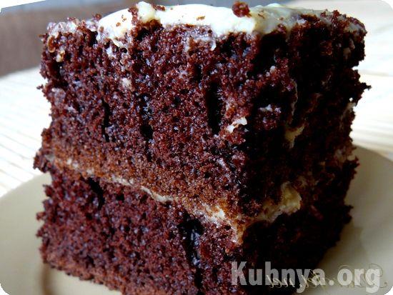 Шоколадный торт с кипятком