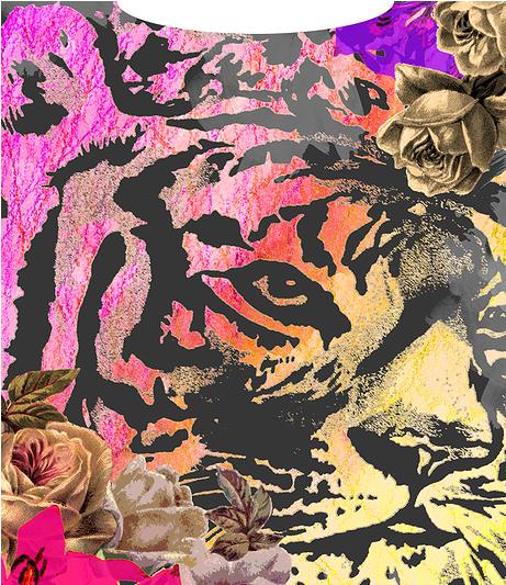 Ursula O'Connor. Tiger face and colour detail Tiger face