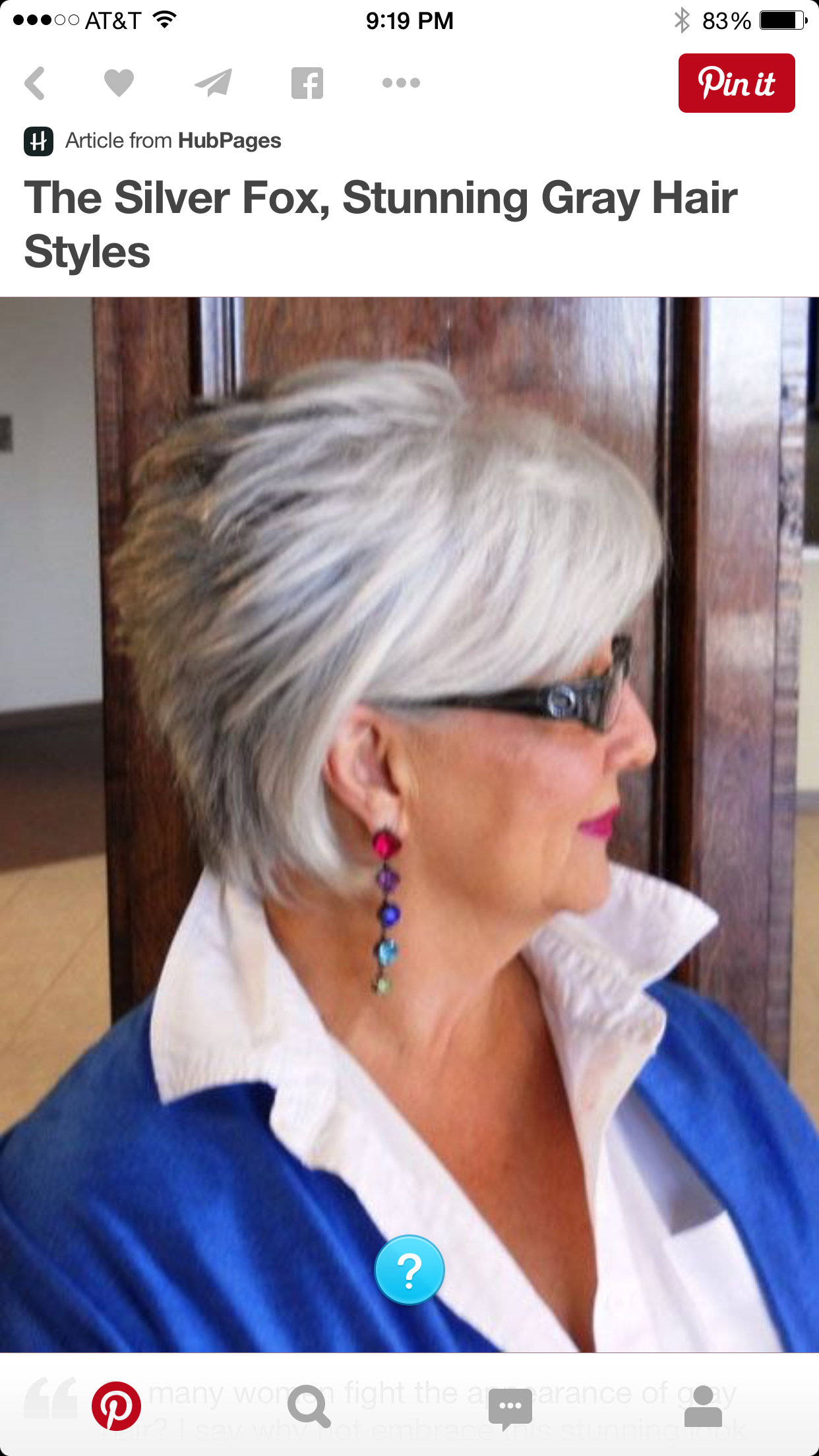 the silver fox, stunning grey hair style. a bit longer than some