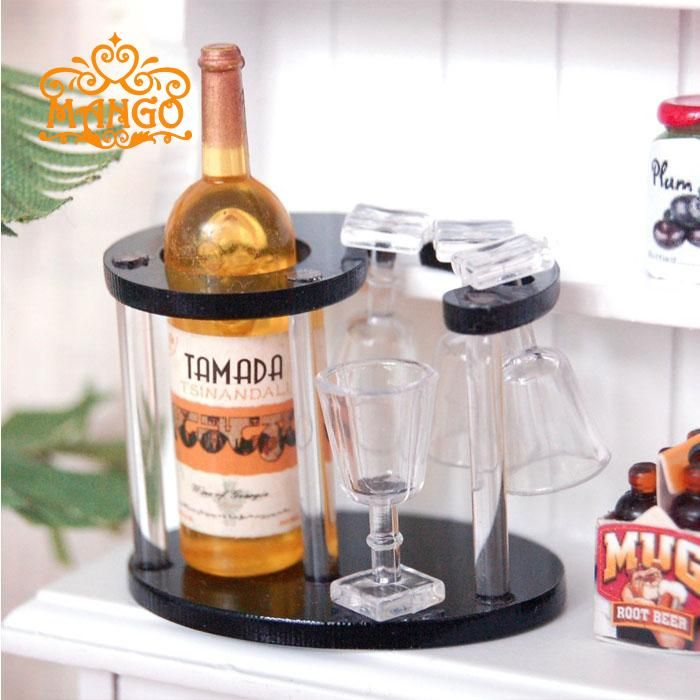 1:12 Dollhouse Miniature  Kitchen Wine Bottle + Rack + Cup Set Pretend Bar Furniture Accessories-in Furniture Toys from Toys & Hobbies on Aliexpress.com | Alibaba Group
