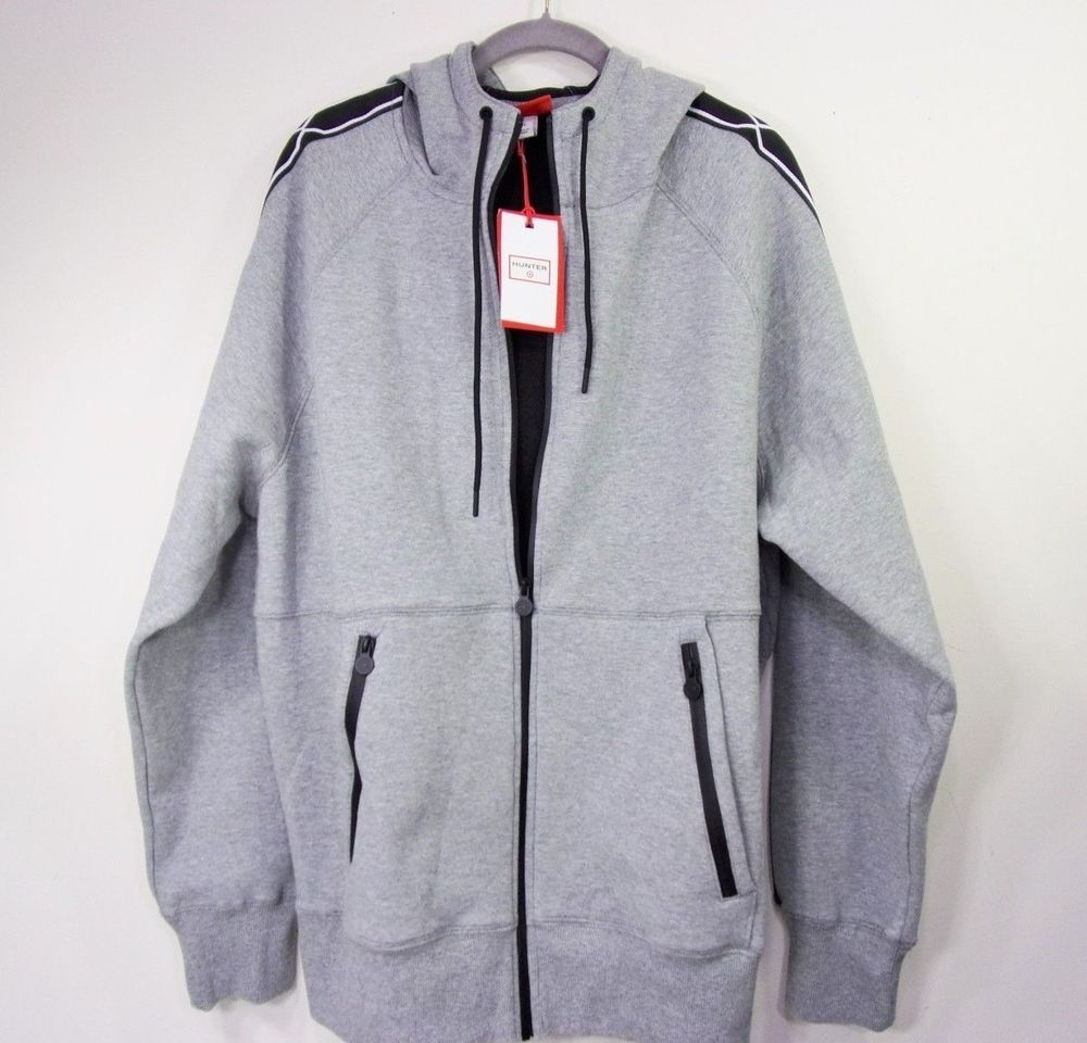Hunter for target mens fleece jacket xl grey zip up hoodie coat