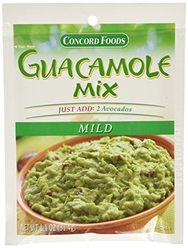 Concord Foods Mild Guacamole Seasoning Mix 1.1oz packages ...