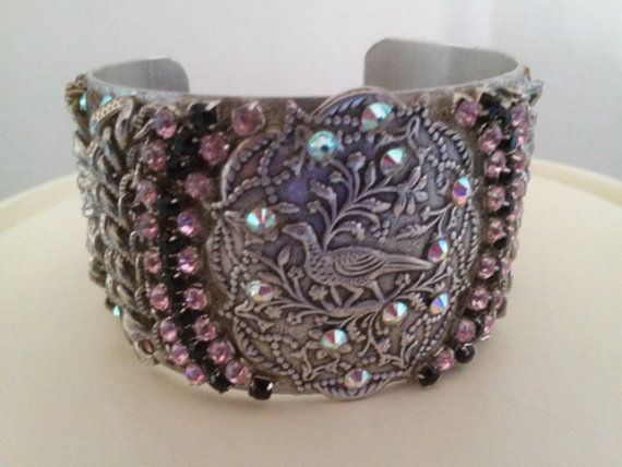 Hey, I found this really awesome Etsy listing at https://www.etsy.com/listing/252868950/rhinestone-and-chai-cuff-bracelet