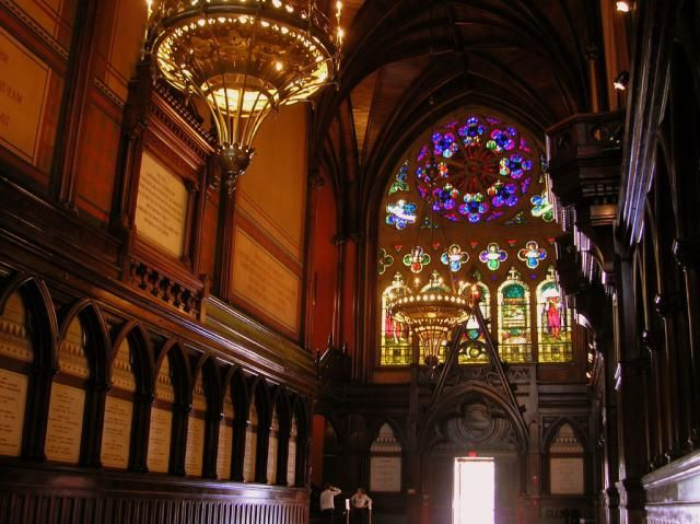 Explore Harvard University in This Photo Tour: Harvard University - Interior of Memorial Hall