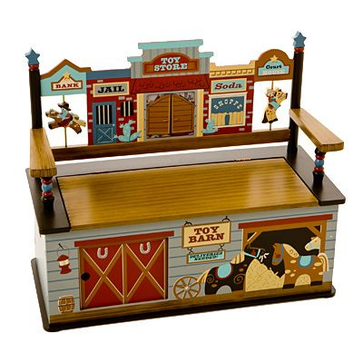 Wild West Toy Box Bench With Images Kids Storage Bench Kids Bench Storage Bench Seating