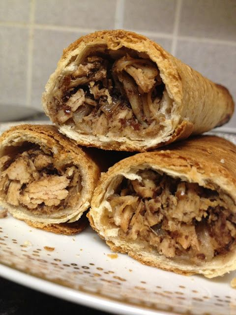 Musakhan (sumac chicken) rolls. I would sub coconut wraps ...