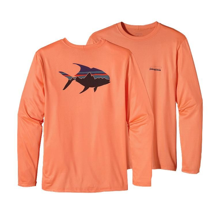 Patagonia Men\'s Long-Sleeved Graphic Tech Fish Tee - Permit Fitz ...