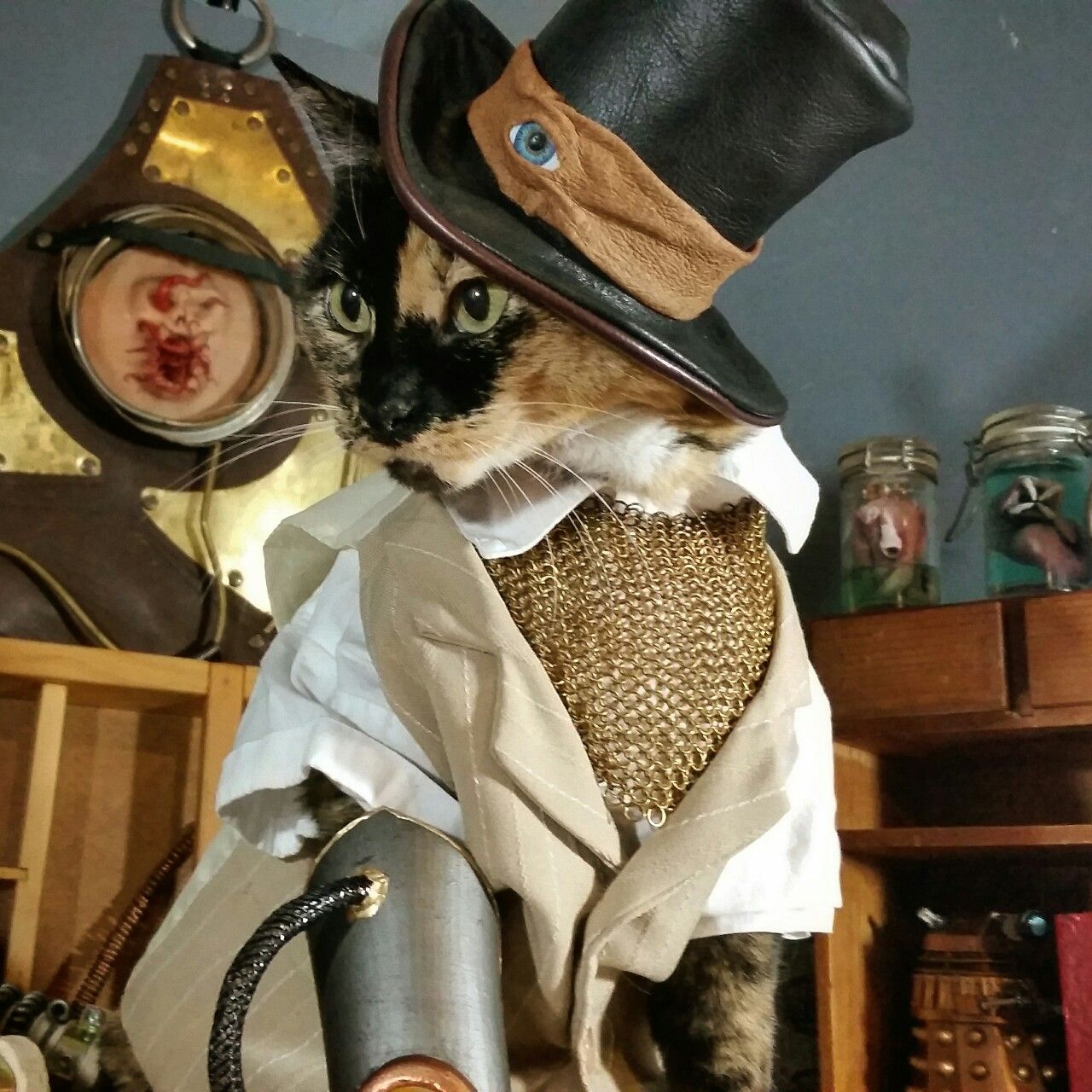 "cat-cosplay: ""I'll take my catnip tea as I always do… Steeped in warm cream. """