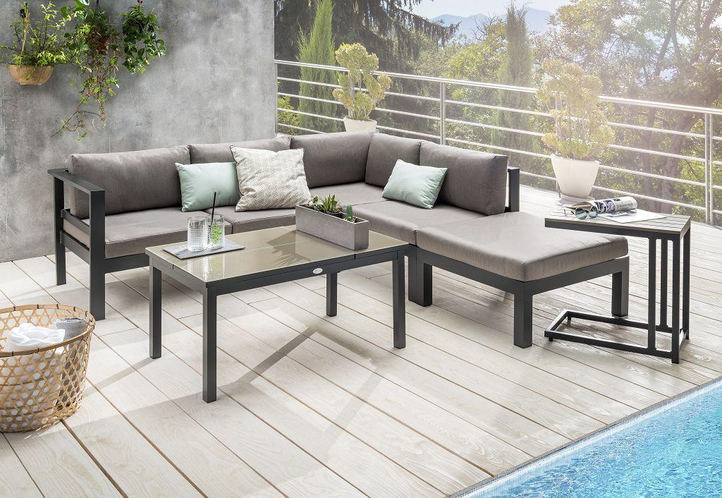 Gartensofa Set Rena Mit Verstellbarem Tisch Inkl Polster In