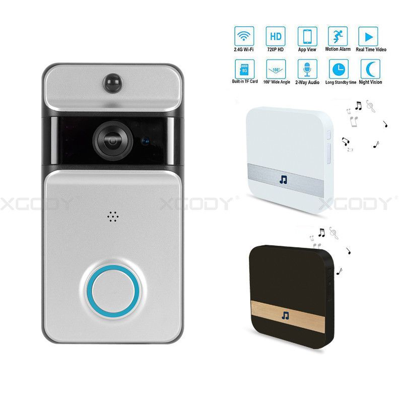 Smart Doorbell Wireless Video Battery Wifi Phone Visual Ring Intercom Rainproof Home Stuff Improvement Garden