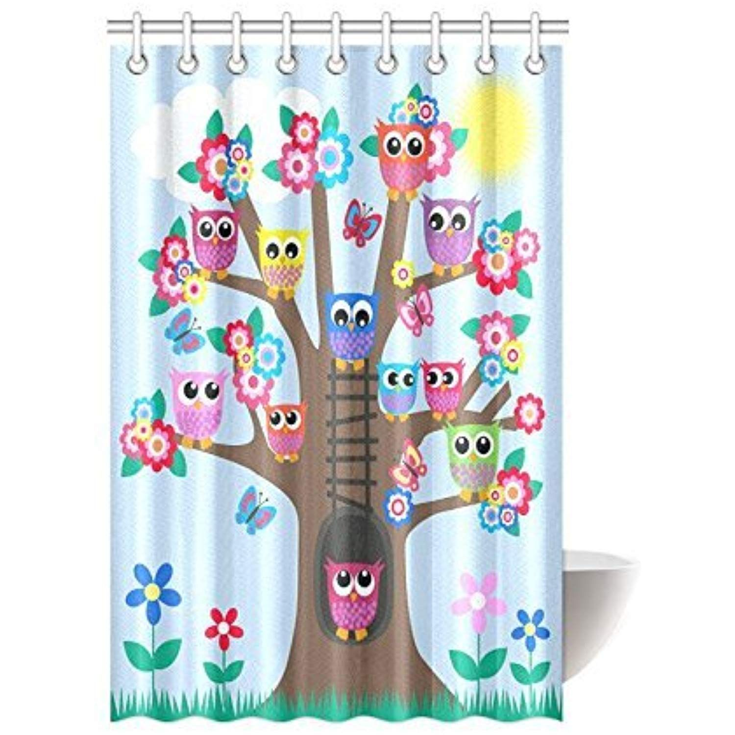 Funny Owl Home Decor Cute Owls On Tree Best Friends Forever Design