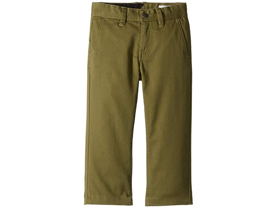 fc163634 Volcom Kids Frickin Modern Stretch Chino Pants (Toddler/Little Kids) (Vineyard  Green) Boy's Casual Pants. Stop frickin' around and cop these legit chino  ...