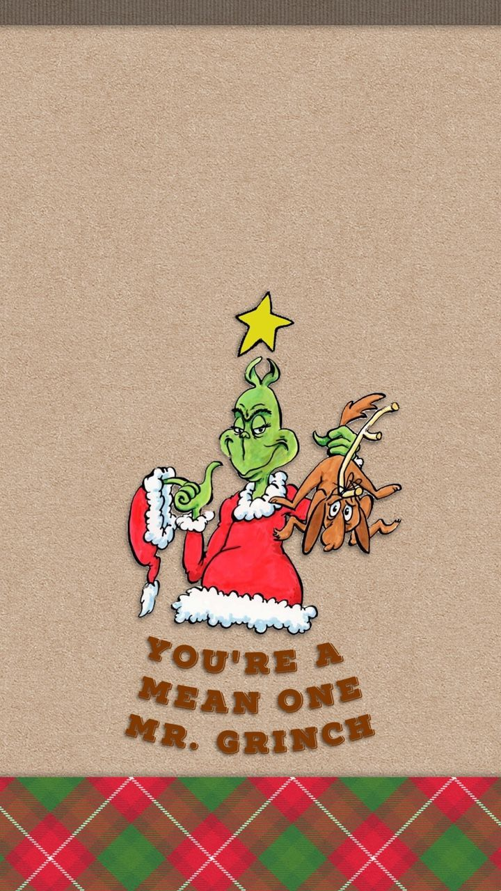 ༶Tee༶ — You're a Mean One Mr. Grinch Christmas Holidays