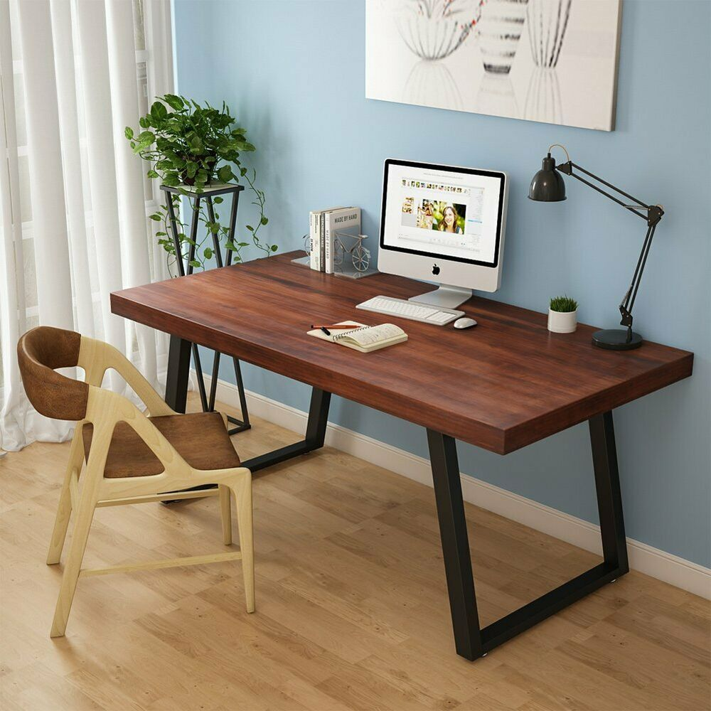 Writing Desk Computer Wood Furniture Home Office Study Table 55 L Solid Wood Us Affilink Desk Wood Computer Desk Cheap Office Furniture Rustic Computer Desk