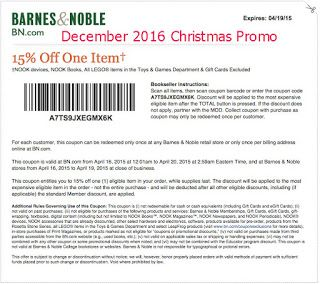 barnes and noble coupons for december 2016