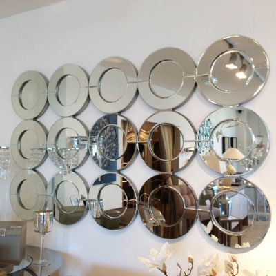 15 Circles Glass Framed Mirror Glass Mirror Modern Mirror Round Mirrors