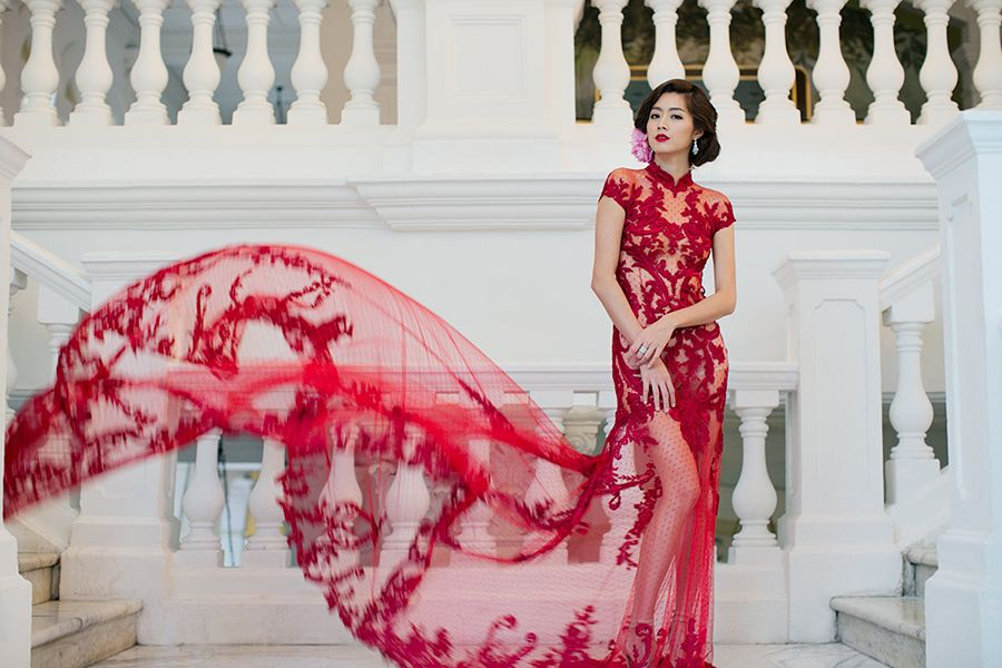 Elegant Wedding Tea Ceremony Inspiration with Cheongsam-Inspired ...