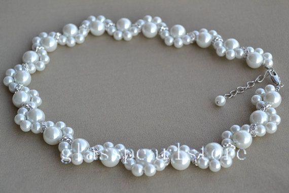Perla y Diamante Con Cuentas Pulsera para Mujeres Niñas Dama Boda Nupcial E9