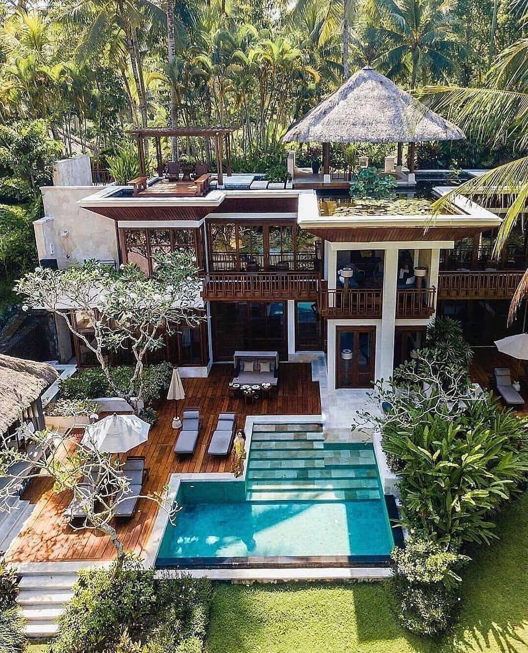 Impeccable Hotels On Instagram Jungle Villa Bali Indonesia Photo Missmariaquintero Bali Visitbali House Exterior Architecture House Architecture