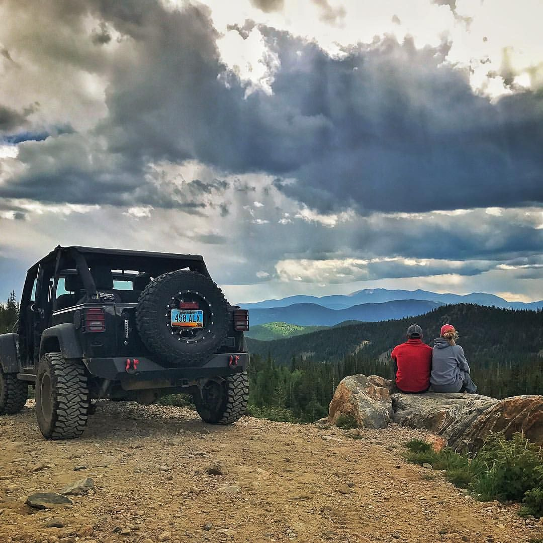 Black Jeep Wrangler Unlimited Jeep Girl Colorado Loch