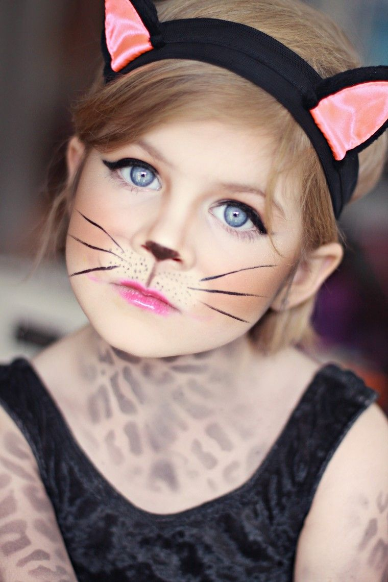 maquillage chat halloween fille maquillage déguisement chat