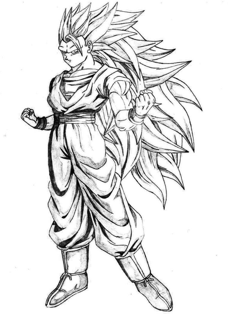 Dibujos Para Pintar De Goku Askcom Image Search Dragon Ball Z