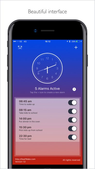 iphone alarm vibrate only deaf an led vibration visual based alarm app for 7376