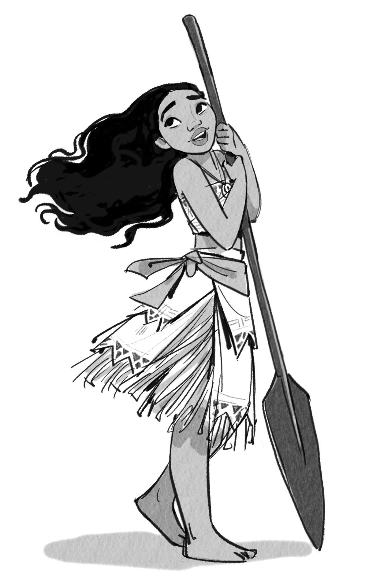 Character Design Drawing Challenge : Moana character design art and concept