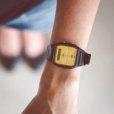 b7c0d101be1 Relógio Casio Analógico Dourado Borracha Preto AW-48HE-9AVDF ...