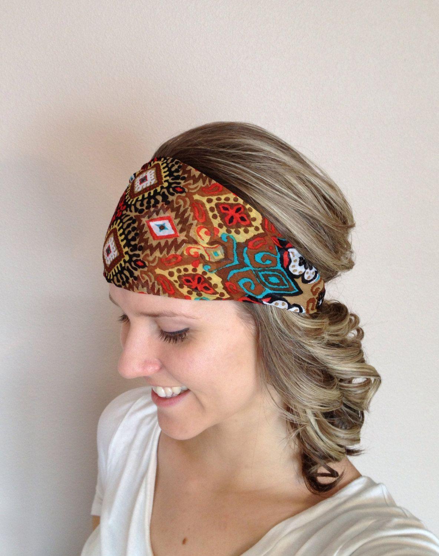 brown tnica amplia diadema tela cabeza banda por lillywest en etsy - Diademas De Tela