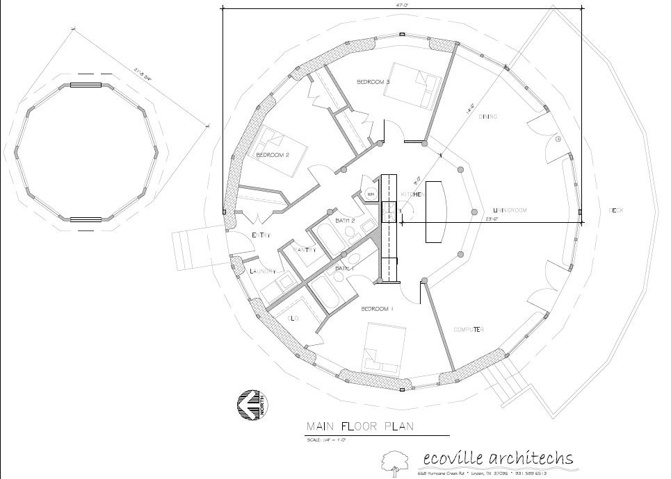 Http Www Earthandstraw Com Images Plans Forwebplanmodel 1 Jpg Straw Bale House Eco House Plans Round House