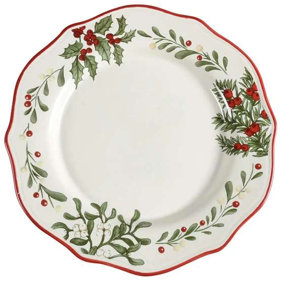 Better Homes And Gardens Christmas Dishes 2020 $29.99 Winter Forest Dinner Plate by Better Homes and Gardens