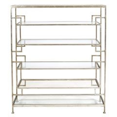 Worlds Away Doris Silver Leaf Etagere WADORISS