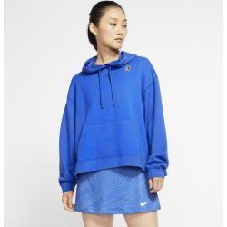 NikeCourt Tennis-Hoodie für Damen – Blau Nike