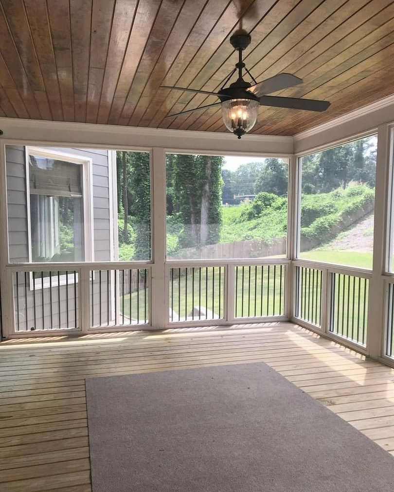Screen Porch Ideas Designs: 63 Back Porch Design Ideas That Will Be Trendy 58