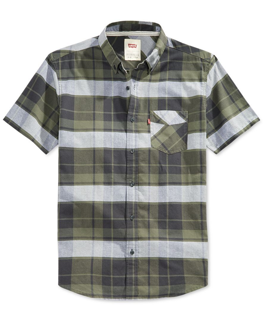 Flannel shirt and shorts men  Levius adds classiccool to your closet with this sharp plaid