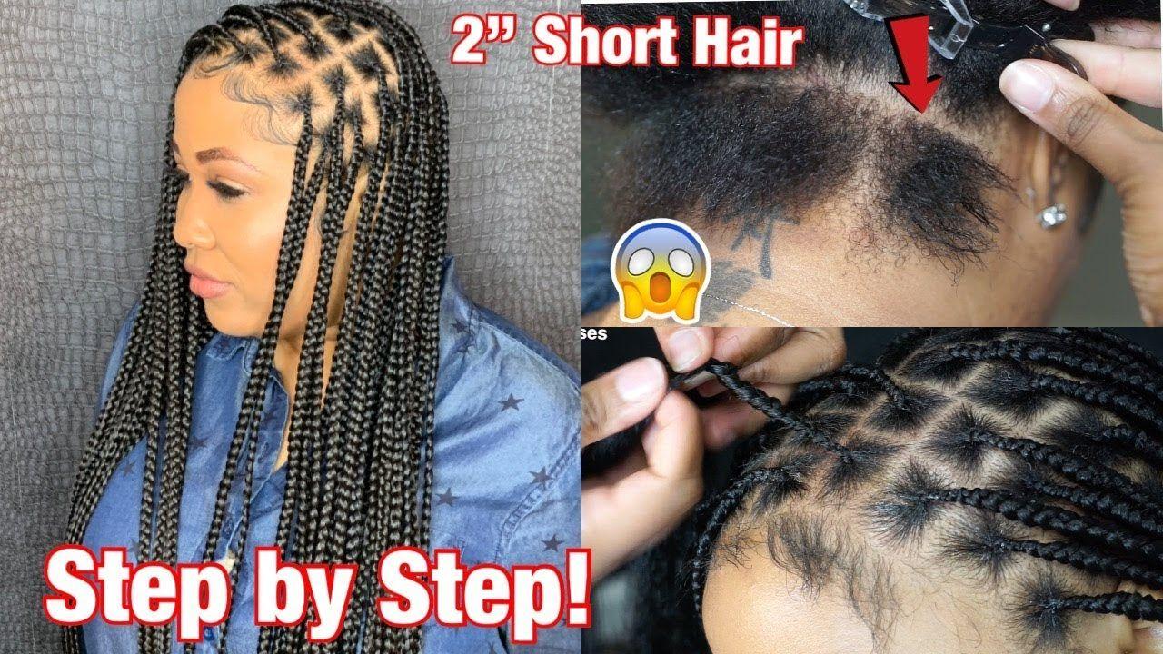 How To Do Knotless Box Braids On 1 Short Hair Braids