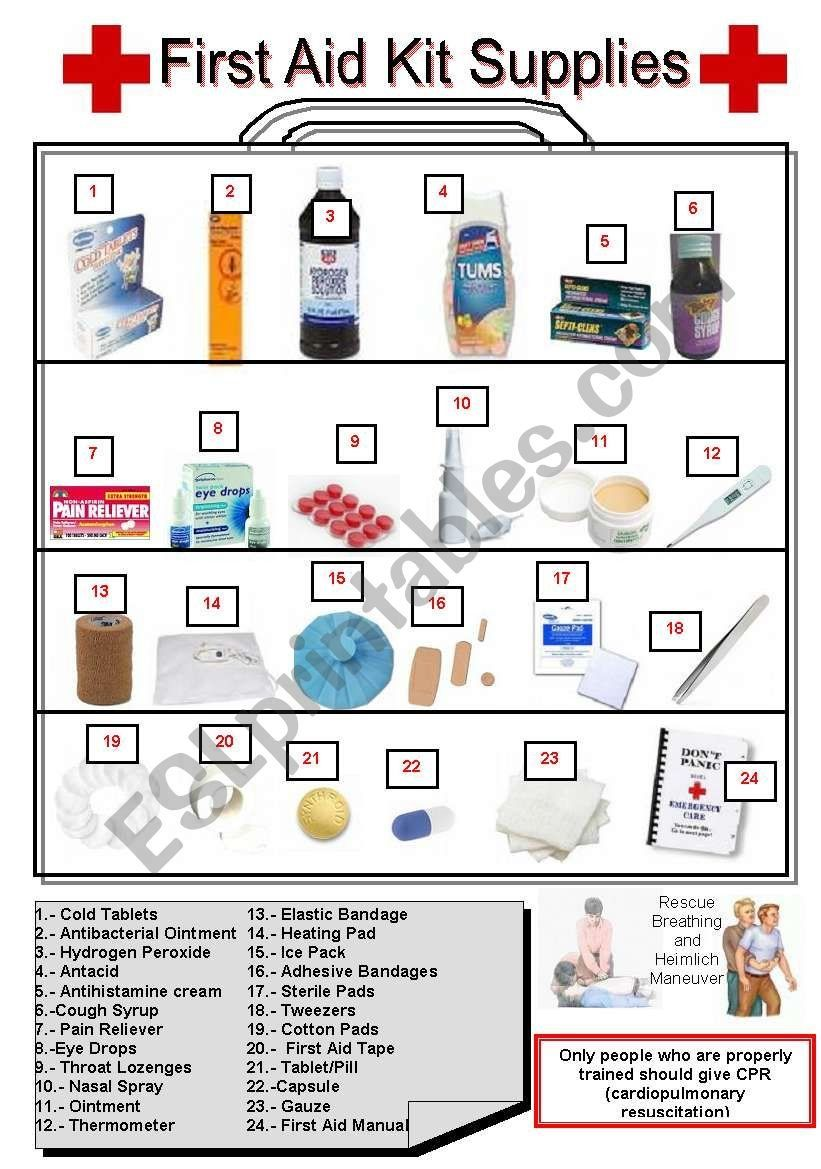 First Aid Worksheets Excelguider Com Botiquin Primeros Auxilios Kit De Primeros Auxilios Primeros Auxilios
