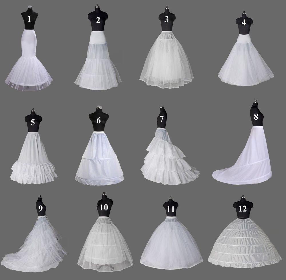 White A Line Mermaid Hoop Bridal Crinoline Petticoat Slips Underskirt Wedding Wedding Skirt Wedding Dress Petticoat Wedding Dress Gallery