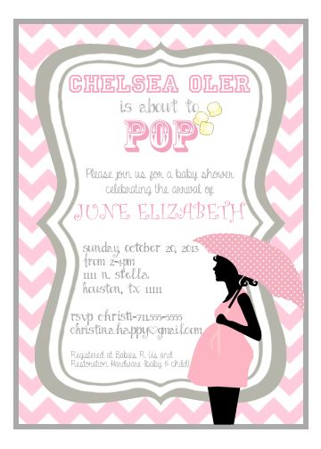 Shop popcorn baby showers and pop baby showers its a girl invitation popcorn baby shower ready to pop ready to pop filmwisefo Images
