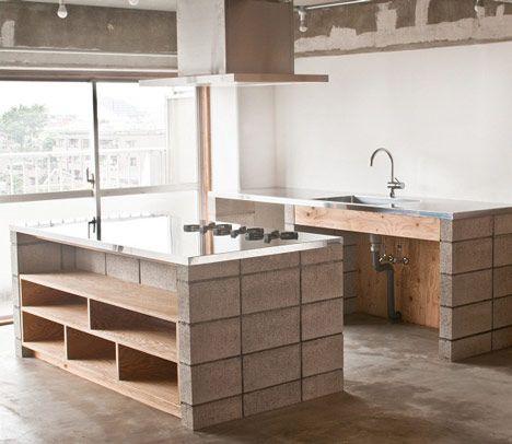 Bloco De Concreto Designs De Cozinha Interior De Cozinha Home