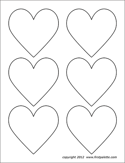 image regarding Free Printable Heart Template identify Hearts Free of charge Printable Templates Coloring Web pages