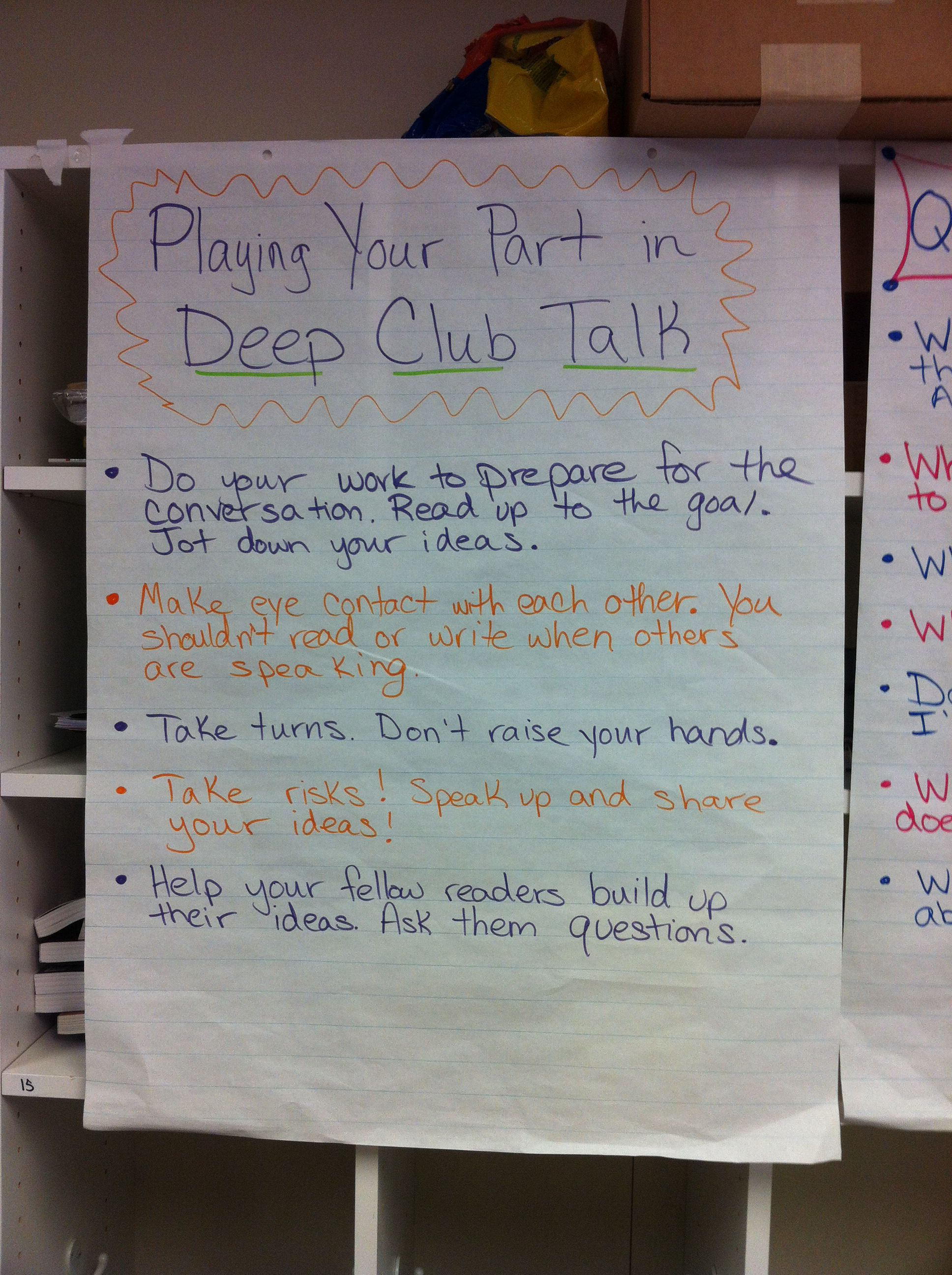 Playing Your Part In Deep Club Talk